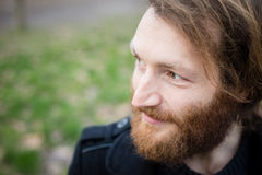 Young hipster red bearded man Royalty Free Stock Photography