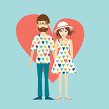 Young hipster wedding couple. Royalty Free Stock Image