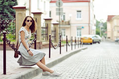 Young hipster woman portrait outdoor Stock Photo