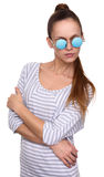 Young hipster woman wearing eyewear glasses Stock Photo