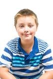 Young Hispanic-American Boy Sitting For Portrait. Hispanic-American Boy Sitting For Portrait Royalty Free Stock Image