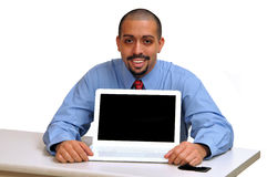 Young Hispanic business man stock photo