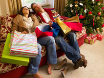 Young Hispanic couple resting Royalty Free Stock Image