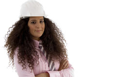 Young hispanic female architect Royalty Free Stock Images