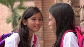 Latina Girl Students Socializing Stock Image