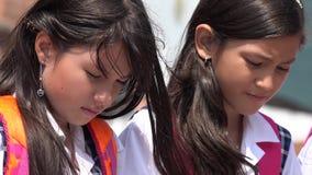 Young Hispanic Female Students. A Young Hispanic Female Students royalty free stock photo