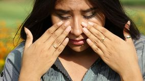 Tearful Young Person Stock Photos
