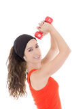Young hispanic fitness woman exercising Stock Image