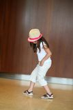 Young hispanic girl dancing Royalty Free Stock Photos