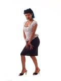 Young Hispanic Girl Retro. Young Hispanic Girl in Skirt and top Royalty Free Stock Photo