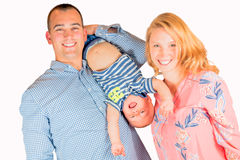 Young Hispanic Man With Caucasian Woman and Little Baby Boy Royalty Free Stock Image