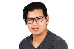 Young hispanic man with glasses Royalty Free Stock Photo
