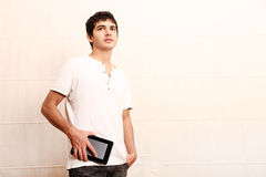 Young man with aTablet PC Stock Image