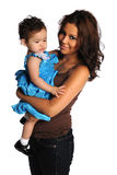 Young Hispanic Mother and Daughter Stock Image