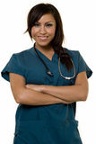Young Hispanic Nurse Stock Photography