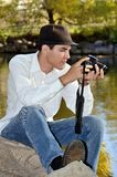 Young Hispanic Photographer Stock Photos