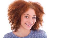 Young hispanic teenage girl isolated on white background Royalty Free Stock Photography
