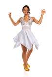Young Hispanic Woman Dancing Stock Image