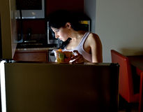 Young Hispanic woman at home Royalty Free Stock Image