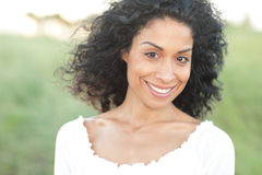 Young Hispanic Woman Smiling Stock Photo