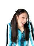 Young Hispanic Woman Surprised Stock Image