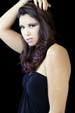 Young hispanic woman unwelcoming expression Royalty Free Stock Image