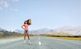Young hitchhiking traveler Stock Photos