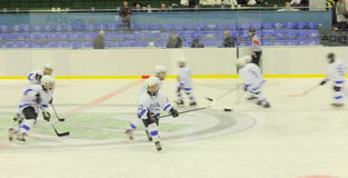 Young hockey players royalty free stock photography