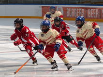 Young Hockey Players stock images
