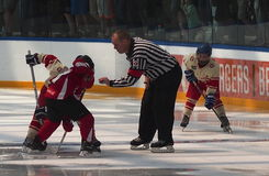 Young Hockey Players. At a hockey tournament Edmonton June 2014 Royalty Free Stock Images