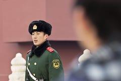 Young honor guard at Tiananmen Square, Beijing, China Stock Photography