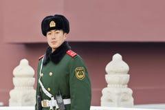 Young honor guard at Tiananmen Square, Beijing, China Royalty Free Stock Photos