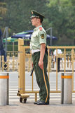 Young honor guard at Tiananmen Square, Beijing, China Stock Images