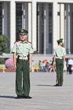 Young honor guards at Tiananmen Square, Beijing, China Royalty Free Stock Photography