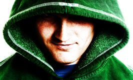 Young hooded male Royalty Free Stock Photos