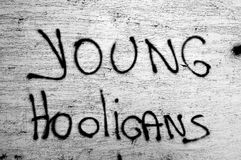 Young hooligans Stock Photos