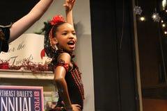 Young hopeful ballet dancer at Victorian streetwalk,Saratoga Spring,New York,2012 Royalty Free Stock Photos