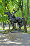 Young Horner - sculpture in Voronezh, Russia Royalty Free Stock Photography