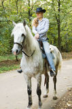 Young horsewoman Stock Photo