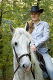 Young horsewoman Stock Images