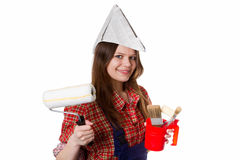 Young house painter Stock Photos