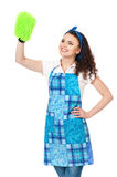 Young housewife Royalty Free Stock Image