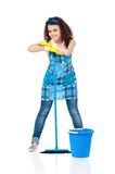 Young housewife Stock Images