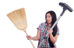 Young housewife doing housekeeping Stock Photography