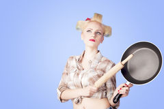Young housewife Stock Photos