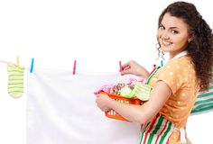 Young housewife Royalty Free Stock Photos