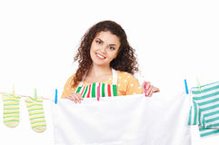 Young housewife Royalty Free Stock Photo