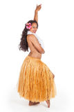 Young hula dancer looking over her shoulder Royalty Free Stock Photo