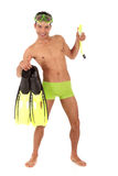 Young humorous Nepalese swimmer Stock Photos