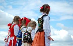 Young Hungarian Dancers Royalty Free Stock Photos